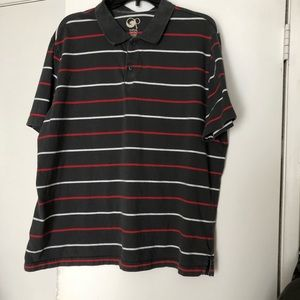 Mens collared striped collar in GUC size XXL